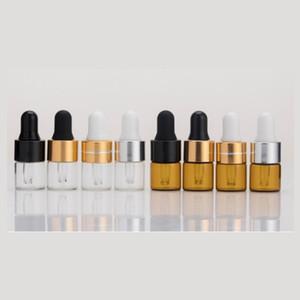 1ml vide vide / bouteille de goutte-gouttes en verre d'ambre, aromathérapie aromathérapie aromathérapie, bouteille d'huile Essentialie avec goutte d'oeil de verre 453 N2