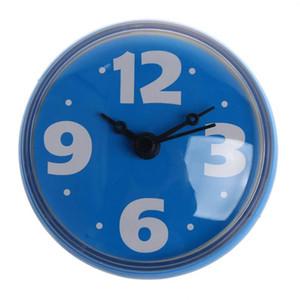Waterproof 2.75'' Bathroom Bath Shower Clock Watch Clear Suction Home Wall Decor blue