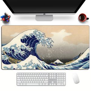 Japan The Great Wave of Kanagawa Art Mouse Pad Large Computer Gaming Mousepad Gamer XL Rubber Otaku Keyboard pad Laptop Desk Mat LJ201031