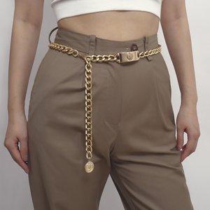 Золотые цепные пояса женщины 2020 кекса римские талии аксессуары платье Cummerbunds Sexy Body ювелирные новости дамы джинсы Cintos 1012