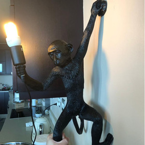 Modern Monkey Ceiling Light White Monkey on a Rope Ceiling Pendant Lamp Fixture for Dinning Room Hotel Home Decor