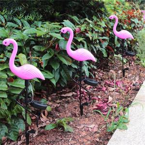 Flamingo Şekilli Güneş Enerjisi Çim Lambaları Su Geçirmez Peyzaj LED Işık Açık Havada Kat Fener Fit Villa Bahçe 24Hz E1