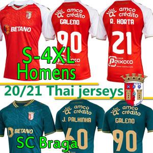 4XL 20 21 SC BRAGA Soccer Jersey 2020 2021 Sporting Clube de Braga Camicie da calcio Galeno Ruiz Bruno Paulinho R.horta Abel Viana Uomo Uniforme
