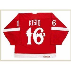 421 # 16 Kelly Kisio Detroit Red Wings 1982 CCM Vintage Hockey Jersey o personalizado Cualquier nombre o Number Retro Jersey