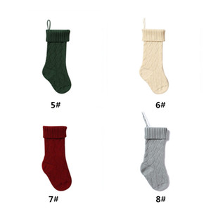Personalized High Quality Knit Christmas Stocking Gift Bags Knit Christmas Decorations Xmas stocking Large Decorative Socks DHE1966