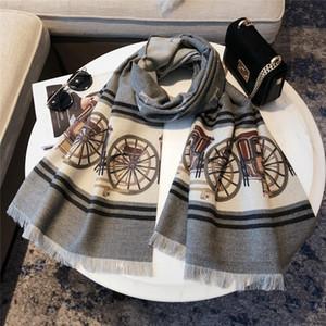 High quality autumn winter 2021 fashion brand silk scarves, super long shawls fashion women's soft silk scarves