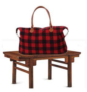 Sacos Bolsa grande Bolsa Vermelho DH0734-1 TOTE DE VIAGEM COM PU Black Check Capacidade de Manta Atacado Unisex Sport Fitness Yoga sacos de armazenamento lidar com cqqs