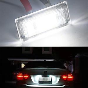 2Pcs License Number Plate Light Lamp for BMW 3 series E46 Original car light assembly