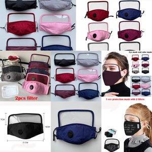 Design maschera viso con scudo occhio lavabile a 3 strati nuovo tasca maschera di cotone con slot people protettivo sicurezza bocca maschera in stz