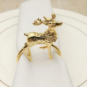 12   PCS new hotel Christmas small deer napkin ring napkin ring metal buckle towel wholesale