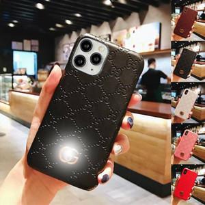 iphone 11 Tasarımcı Çantası Pro Max 12 Mini Xs X XR 8 7 Artı moda kabartmalı G harfi sert arka telefon kapağı