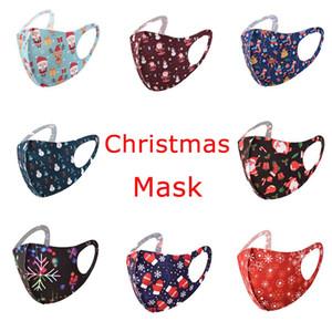 Chrismas Maske 3D Design Gesichtsmaske für Erwachsene Kinderabdeckung Mund Halloween Seidenmaske Anti-Bakterienwaschbare Wiederverwendbare Masken Einzelnes Paket