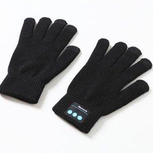 1Pair Женщины Мужчины Bluetooth Finger датчик Встроенный динамик / микрофон мужской осень зима теплая Вязаные перчатки # 2