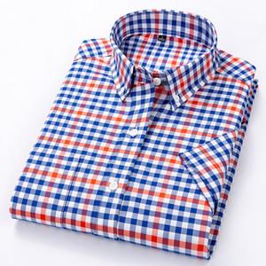 Macrosea повседневная полосатая рубашка мужская летняя стиль социального клетчатка высокое качество 100% хлопок с короткими рукавами мужские рубашки