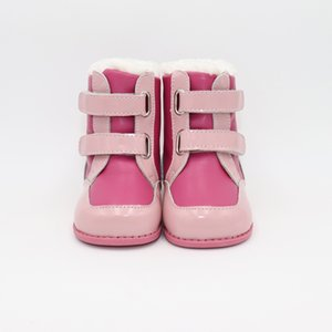Tipsietoes New Winter Children Barefoot Shoes Leather Martin Boots Kids Snow Girls Boys Rubber Fashion Pink Sneakers 201020