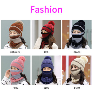 Hot sale 12 styles Knitted Hat + Scarf + Mask 3 piece suit Knitted Costume Cap Winter Soft Warm Girls Beanies more