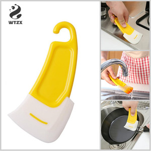 Simple Silicone Scraper Plate Soft Rubber Cleaning Trowel Reusable Pot Cleaning Spatula Cucina Keuken Espatula Squeegee
