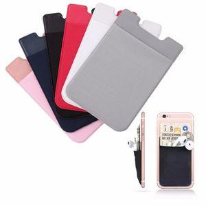 5Color Klebstoff Aufkleber Telefon Zurück Karten Geldbörsenfall Credit ID Kartenhalter Handy U-Form Kartenhalter Tasche 5,8 x 8,8 cm # 50