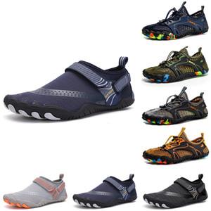 Ucuz Mens Womens Wading Ayakkabı Platformu Tasarımcı Eğitmenler Üçlü Siyah Tepeli Beyaz Moda Nefes Açık Erkek Kadın Spor Sneakers Boyutu 3
