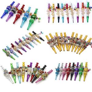 Großhandel Shisha Hukahn Mundtipps Handgemachte eingelegte Schmuckkugel Legierung Blunt Inhaber Shisha Mundstücke Huka-Tipps