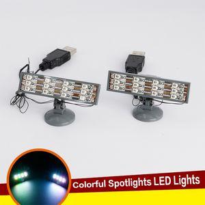 Bausteine Universal-DIY LED Brick MOC Bricks Spielzeug mit USB-Anschluss bunter Beleuchtung Kit