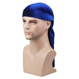 Unisex Velvet Silky Durags Bandanas Turban Cap Women Men Satin Wigs Doo Biker Headwear Long Tail Headwrap Du-rag Hair Accessor sqcnZA