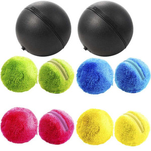 2 Set Magic Roller Ball Toy, Dog Cat Automatic Roller Toys Ball With 2 Rolling And 8x Colorful Cover Mini Robot Cleaner F