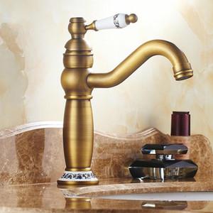 Antique Retro Faucet Bathroom Basin Taps Hot And Cold Rotatable Water Taps Ceramic Bathroom Sink Faucet Torneiras do banheiro1