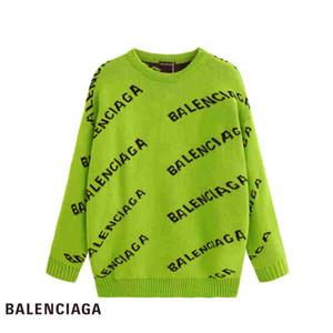 Balenciaga sweater Мужской трикотажные пуловеры дизайнер свитер мужчины O-шея Повседневного вязание Перемычки Свитер мужских Длинные пуловеров известной бренд Женщина свитер