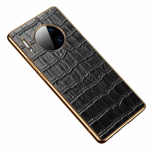 Exquisite Allgator Print Aristocratic Wallet Electroplating Sticker Cover Cute Ultra-Thin Slim Luxury Genuine Leather Case For Huawei P40