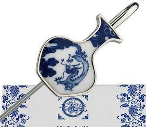 Blue And White Porcelain Bookmark, Chinese Wind Metal, Classical Creative Bookmark, Gift Teacher, Classmate G sqcmiu new_dhbest