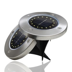 Solar Buried Light 8led Stainless Steel Outdoor New Style Plug-in Lawn Lamp Garden Garden Water Resistant Villa Ground Light