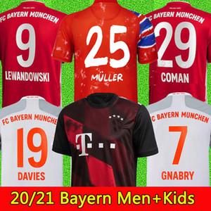 top thaïlande SANE 10 LEWANDOWSKI COUTINHO Sané 20 21 2021 Bayern Munich Gnabry maillot de football 2020 2021 COMAN DAVIES maillot de football MUNCHEN ensembles Hommes + Enfants