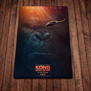 King Kong Skull Island Movie Poster Paint on Canvas Paintings Home Decor for Living Room Decoration Modern Art Fashion Picture Wall Art
