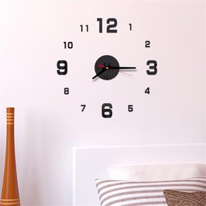 3d Wall Clock Acrylic Mirror Wall Stickers Diy Clocks Removable Art Mural Decals Living Room Roman Numbers Clock