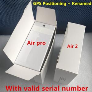 Gürültü Azaltma Şeffaf Mod Hava 3 H1 Çip Rename GPS Kablosuz Şarj Bluetooth Kulaklıklar Pods 2 Pro AP2 AP3 Kulaklıklar 2nd Generati