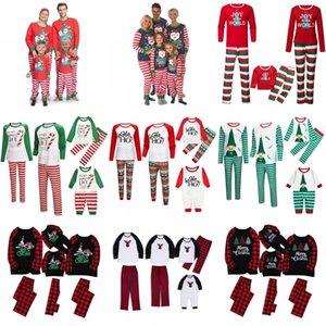 Natale della famiglia Pigiama set di prodotti abbinati Papà mamma bambini della famiglia del bambino di Natale degli indumenti di Natale Notte Pigiama partito di usura EWA1839