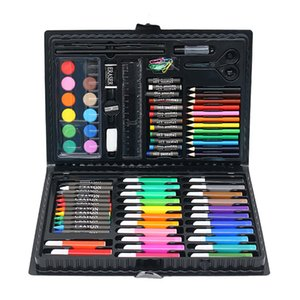 Coloriage Art Set 86pcs Dessin Pen Set Ensemble Aquarelle Art Papeterie Cadey Set Aquarelle Brosse Pensa Pensor Crayon pour enfants