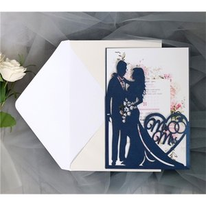 Personalized Hollowed-out Wedding Invitation Cards Laser Cut Greeting Cards For Engagement Party Favors Supplies