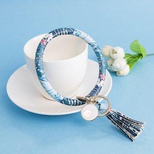 PLU Couro Wrap Wristbands Chaveiro Chaveiro Cor Pulseira Chaves Teclas Tassel Charms Fivelas Fivelas Hot Selling 10 5CHA L1