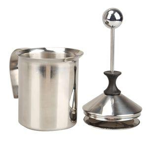 Eco Metal Leche Frother Foamer Milk Creamer Cocina Herramienta de ordeño Batidor de acero inoxidable Malla doble para leche