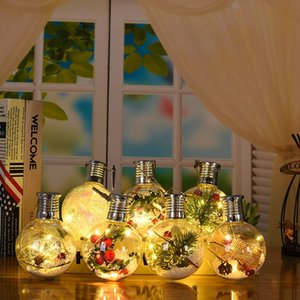 Creative Christmas Led Transparent Ball Christmas Tree Decoration Pendant Plastic Ball Light Bulb Garden Christmas Decor For Outdoor