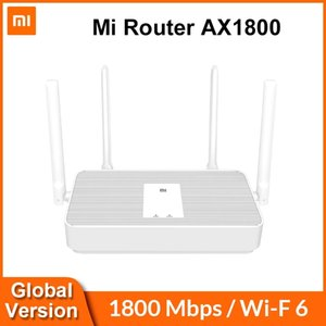 Globale Version Xiaomi MI-Router AX1800 WIFI 6 1800 Mbit / s 5-Kern-Chip 256MB RAM 2.4G / 5G Zweifrequenz-Netznetz AX5 4 Antennen