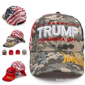 President Trump Hats Keep America Great 2020 Baseball Cap USA National Flag Mens Women Hat Embroidery Camouflage General Election 12 5k Ukbg