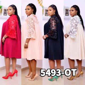 New style African women's Dashiki Fashion Christmas dresses Lace stitching loose dress size M XL 3XL 4XL BUST 118CM -130CM