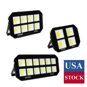 200W 400W 600W LED extérieur Floodlight Super Bright blanc étanche lumière LED de sécurité pour le lot de stationnement, Garage, Allée, éclairage de jardin