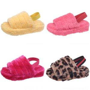 IFMQ Soft Sale-Nter Plush Plush Slipperspearl Inlaid Plush Bow Cotton Mughded тапочки Существенные удобные плоские открытые носки новые тапочки для