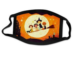 Halloween Erwachsene Maske Kürbis Clown Schädel Halloween Gesichtsmaske Einstellbare Mund Hängende Ohr Anti Dust Wiederverwendbare waschbare Mundabdeckung Ewf2243