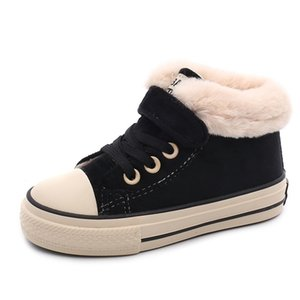 Babaya Children Cotton-Pedded Shoes Girls Snow Boots Winter New Boys Plus Velvet Warm Fashion Kids Casual Shoes 201130