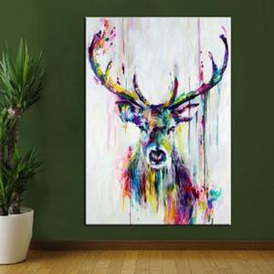 Geyik Ev Duvar Dekoru On Tuval Çoklu Boyutları boyama 0,43 Çerçeveli Çerçevesiz Yüksek Kaliteli Handpainted HD Baskı Modern Soyut Hayvan Sanat